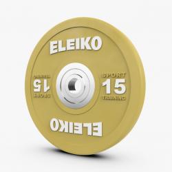 Eleiko Sport Training sunkiosios atletikos spalvoti treniruočių svoriai - 10 kg / 15 kg / 20 kg / 25 kg