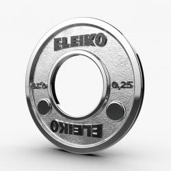 Eleiko IPF jėgos trikovės varžybiniai frikciniai svoriai - 0,25 kg / 0,5 kg / 1,25 kg / 2,5 kg / 5 kg