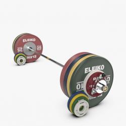Eleiko IWF sunkiosios atletikos varžybinis štangos komplektas moterims - 185 kg