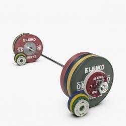Eleiko IWF sunkiosios atletikos treniruočių štangos komplektas moterims - 185 kg