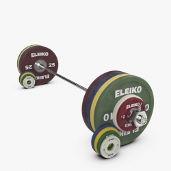 Eleiko Performance sunkiosios atletikos treniruočių štangos komplektas moterims - 185 kg