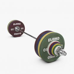 Eleiko Performance sunkiosios atletikos treniruočių štangos komplektas vyrams - 190 kg