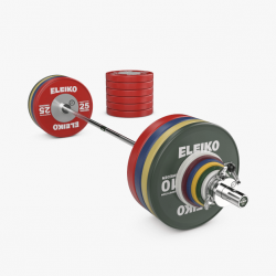 Eleiko WPPO jėgos trikovės parolimpinis varžybinis štangos komplektas vyrams - 340,5 kg