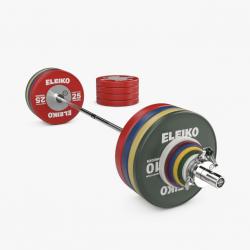 Eleiko WPPO jėgos trikovės parolimpinis varžybinis štangos komplektas vyrams - 290,5 kg
