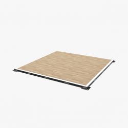 Eleiko IWF varžybinė, ąžuolinė sunkiosios atletikos platforma 4000 x 4000 x 100 mm