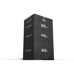 Evolve minkštų šuolių platformų komplektas 5 in 1 - 7,5 cm / 15 cm / 30 cm / 45 cm / 60 cm